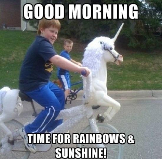 Good Morning Time For Rainbow Good Morning Meme