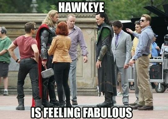 Hawkeye Is Feeling Fabulous Hawkeye Meme