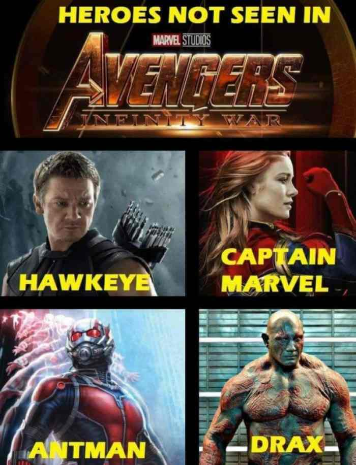 Heroes Not Seen In Avengers Captain Marvel Meme
