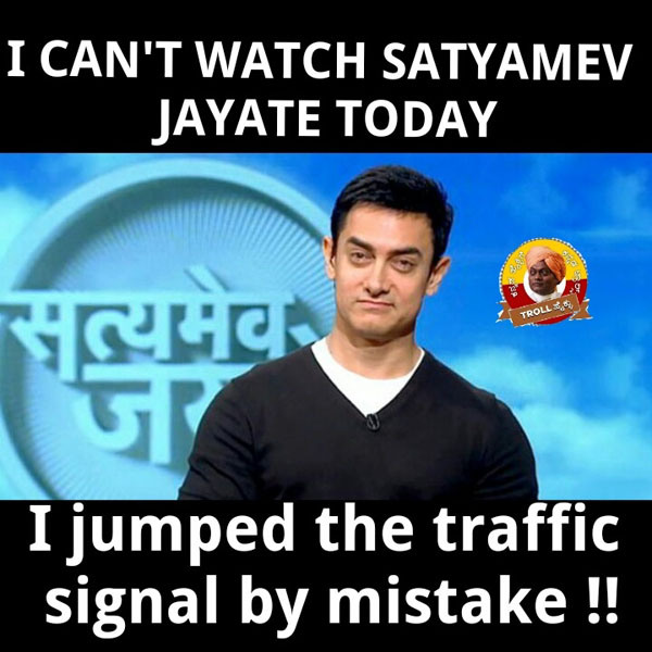 I Can't Watch Satyamev Aamir Khan Meme