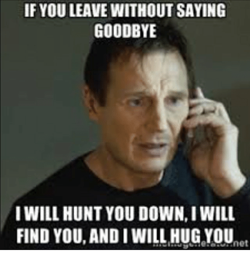 If You Leave Without Saying Good Bye Meme