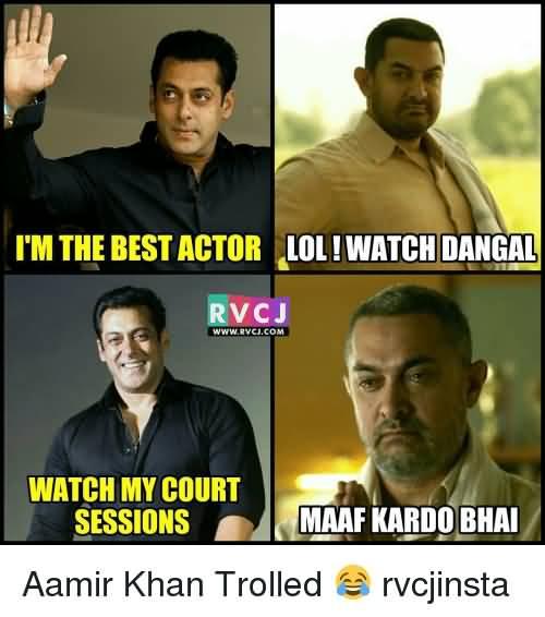 I'm The Best Actor Aamir Khan Meme