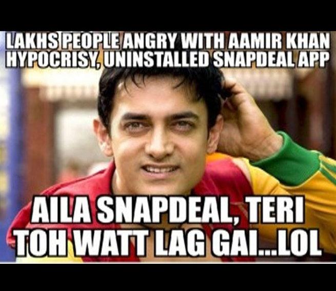 Lakhs People Angry With Aamir Khan Meme