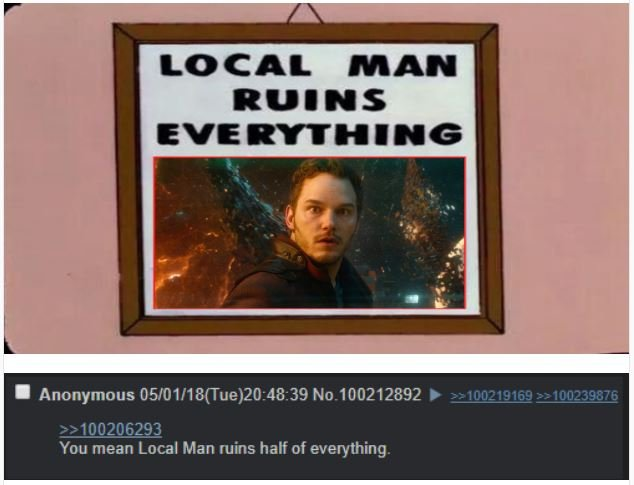 Local Man Ruins Everything Star Lord Meme