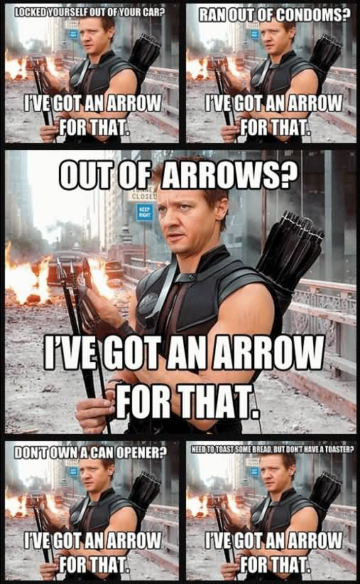 Locked Yourself Out Of Hawkeye Meme