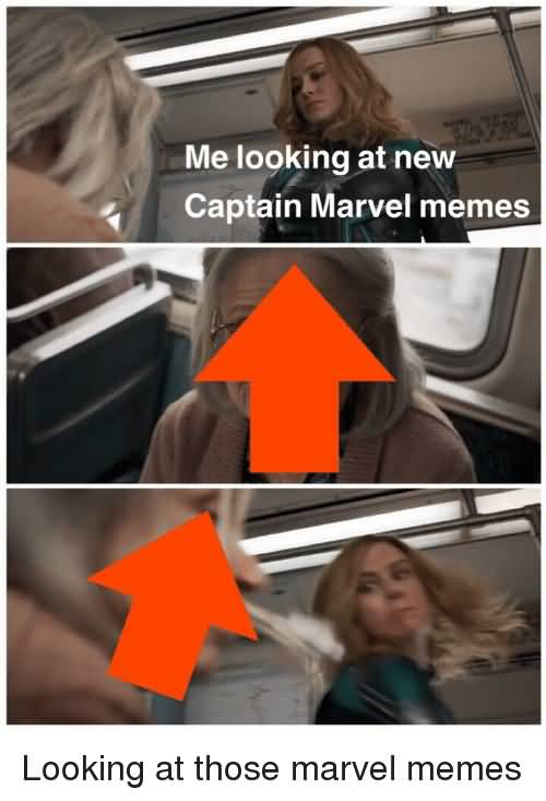 Me Looking At New Captain Marvel Meme