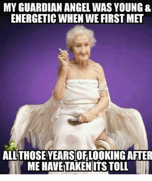 My Guardian Angel Was Angel Meme