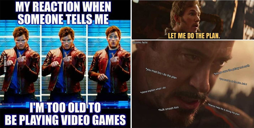 My Reaction When Someone Star Lord Meme