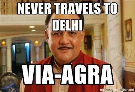Never Travels To Delhi Alok Nath Meme