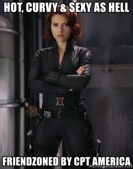 Not Curvy & Sexy Black Widow Meme