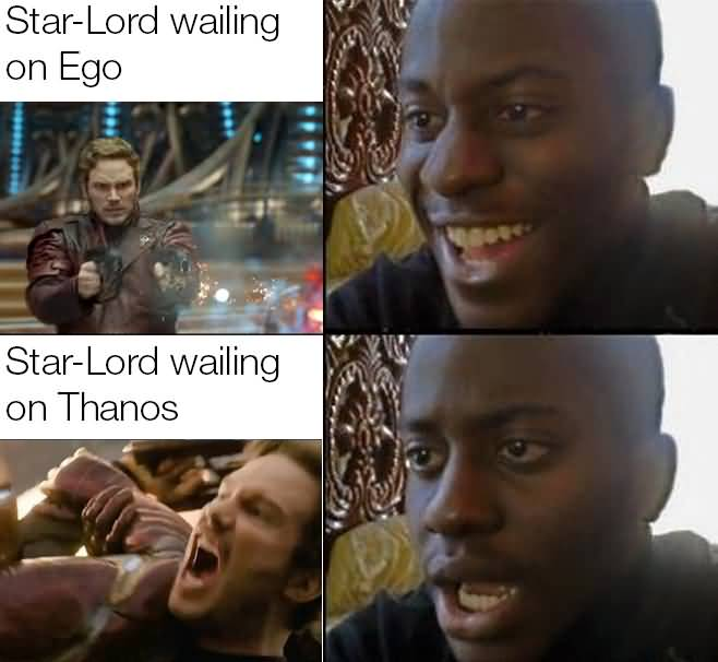 Star Lord Wailing On Ego Star Lord Meme