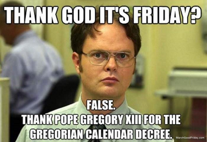 Thank God It's Friday Good Friday Meme