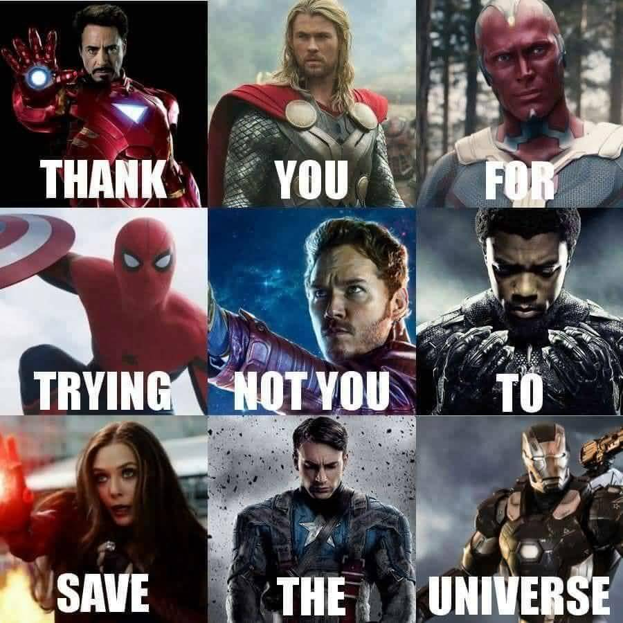 Thank You For Trying Star Lord Meme