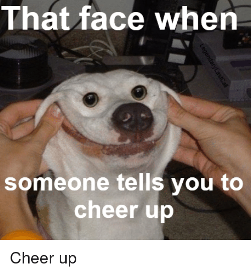 That Face When Someone Cheer Up Meme