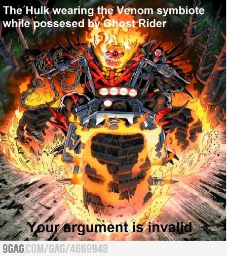 The Hulk Wearing The Ghost Rider Meme