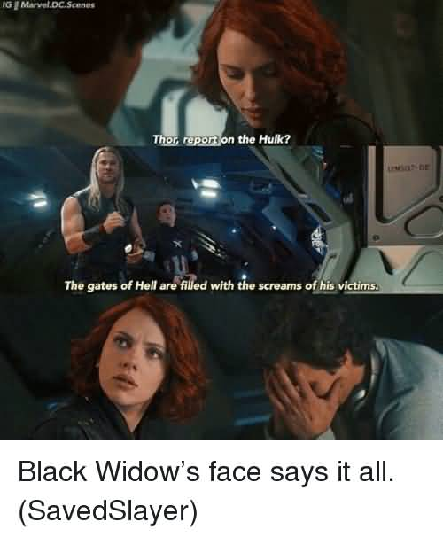 Thor Report On The Black Widow Meme