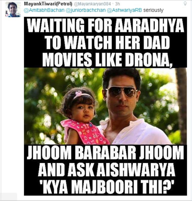 Waiting For Aaradhya To Abhishek Bachchan Meme