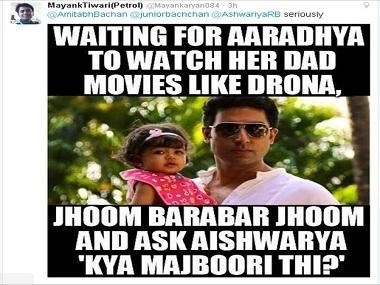 Waiting For Aaradhya To Watch Abhishek Bachchan Meme