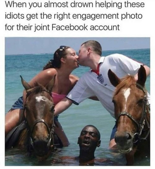 When You Almost Drown Engagement Meme