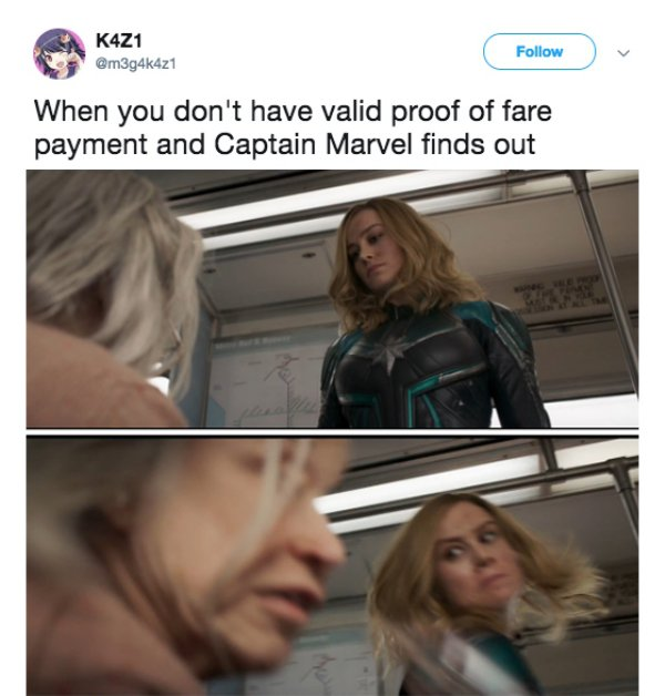 When You Don't Have Captain Marvel Meme