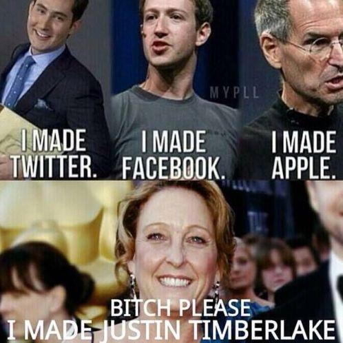 I Made Twitter Facebook Justin Timberlake Meme