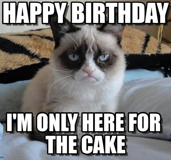 Happy Birthday I'm Only Birthday Cake Meme
