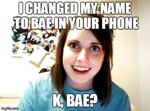 I Changed My Name Bae Meme