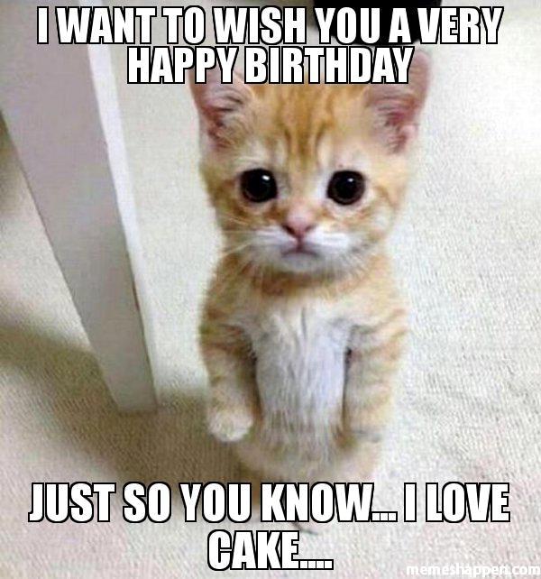 I Want To Wish Birthday Cake Meme