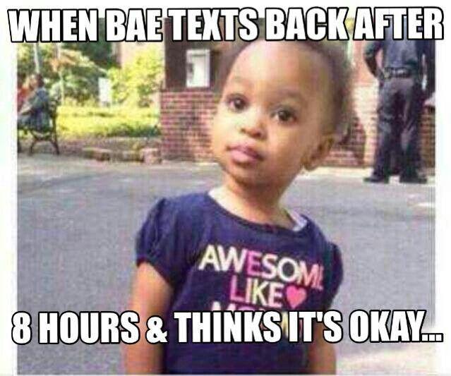 When Bae Texts Back Bae Meme
