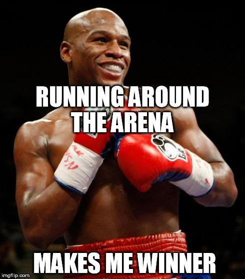 Running Around The Arena Boxing Memes Mayweather