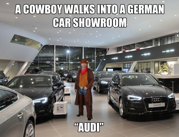 A Cowboy Walks Into Car Guy Memes