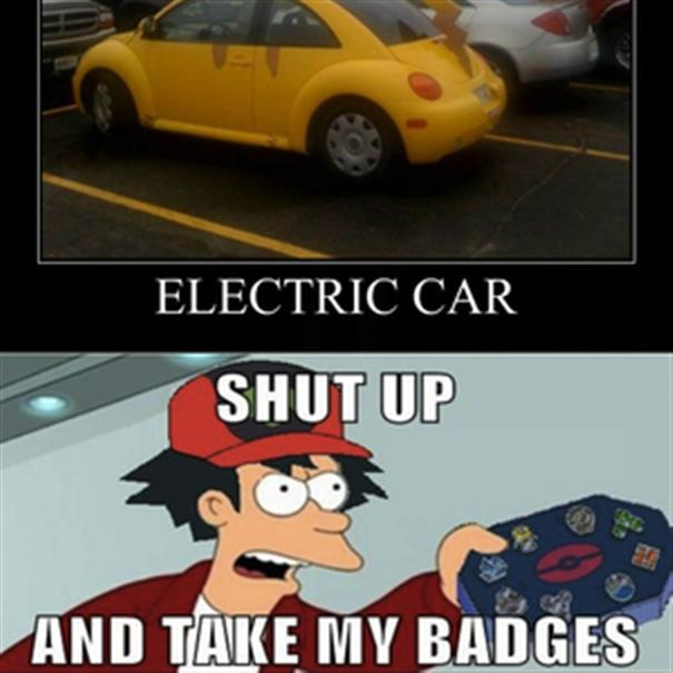 Electric Car Shut Up Car Meme