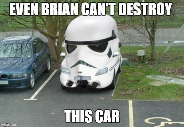 Even Brian Can't Destroy Car Meme