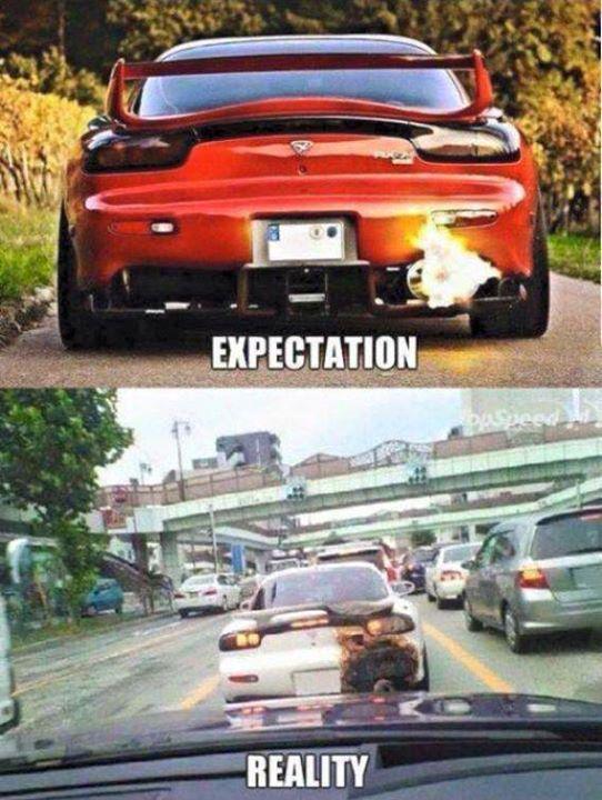 Expectation Reality Car Memes Car Throttle