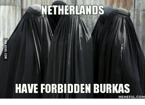 Netherlands Have Forbidden Burkas Burka Meme