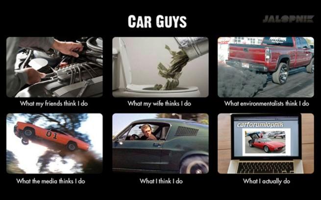 What My Friends Think Car Memes Car Throttle