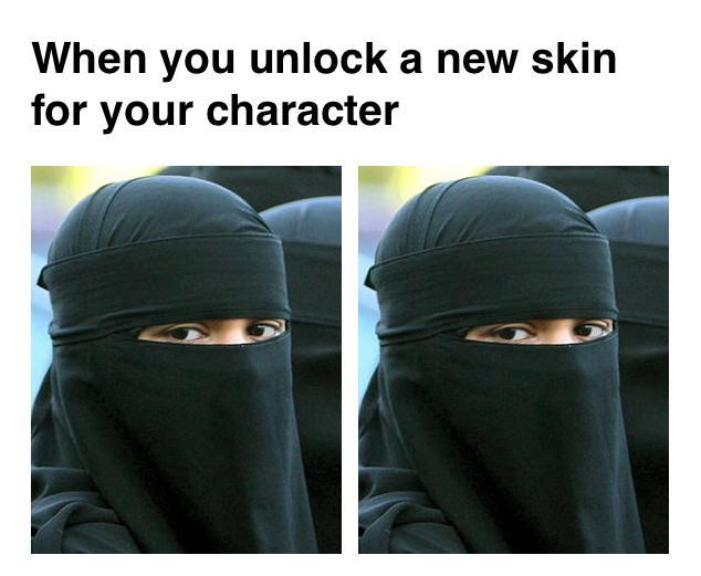 When You Unlock A Burka Meme