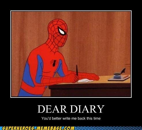 Dear Diary You'd Better Cartoon Memes Clean