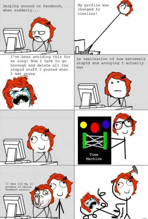 Derping Around On Facebook Cartoon Memes Facebook