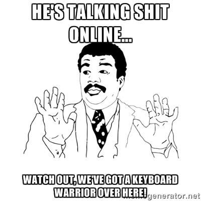 He's Talking Shit Online Cartoon Memes Facebook